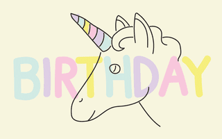 gift card - unicorn